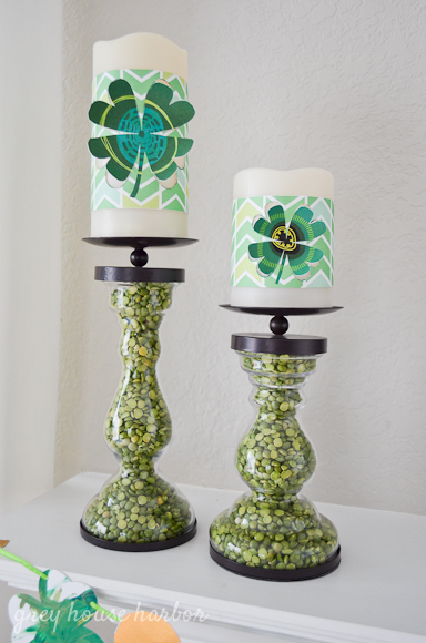 shamrock candle wrap printable  |  greyhouseharbor.com