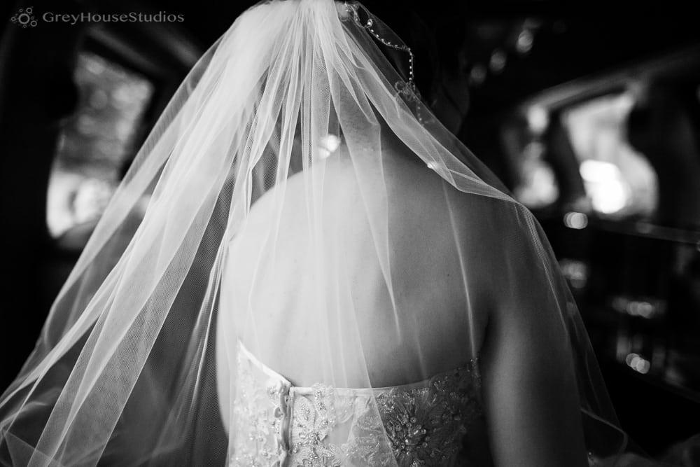 long island wedding photos bride in limo mineola ceremony
