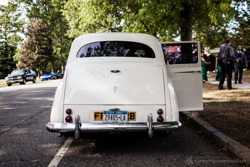 long island mineola wedding bride groom photos antique car