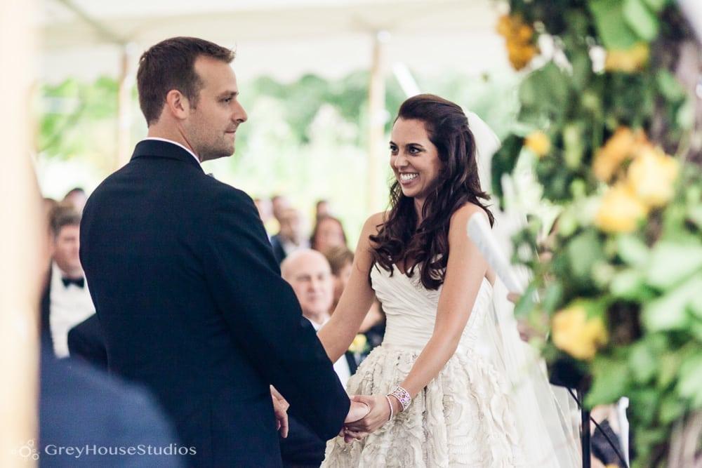 winvian wedding ceremony photos bride with groom reading vows
