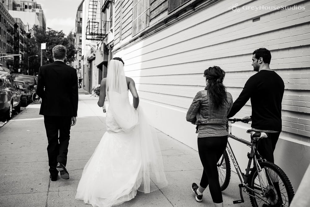 nyc wedding bride and groom portrait street photos