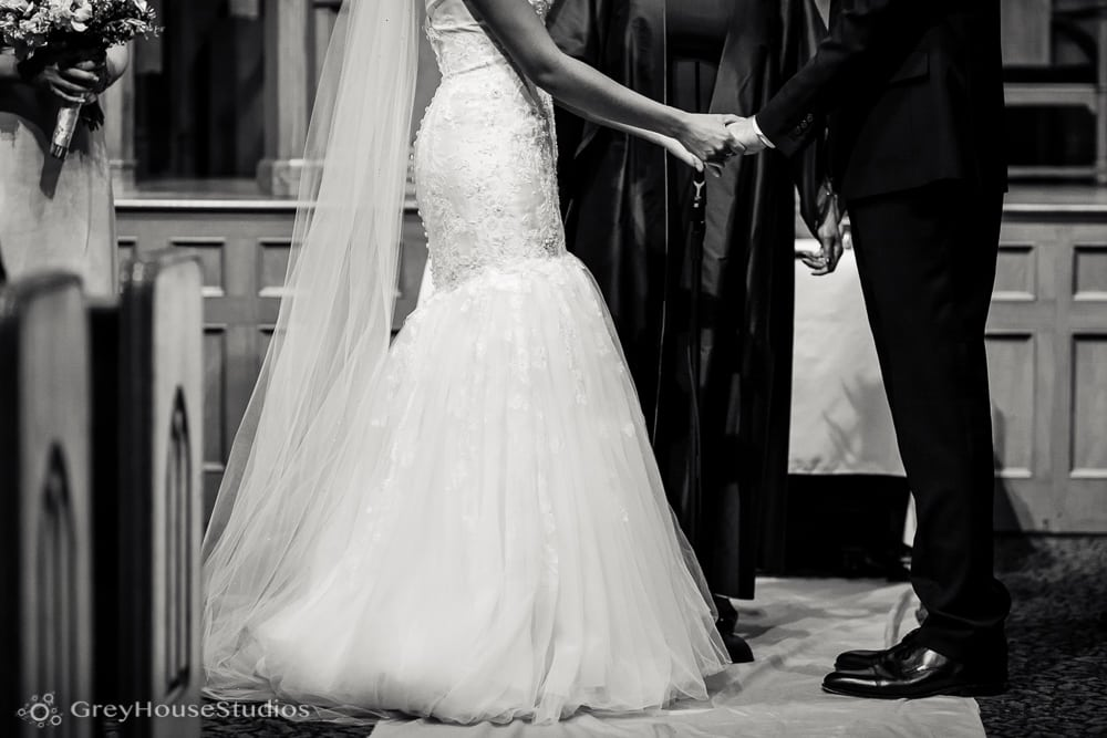 middle collegiate church nyc wedding ceremony hold hands photos