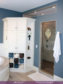 traditional bathroom transom into shower bathroom linen cabinet