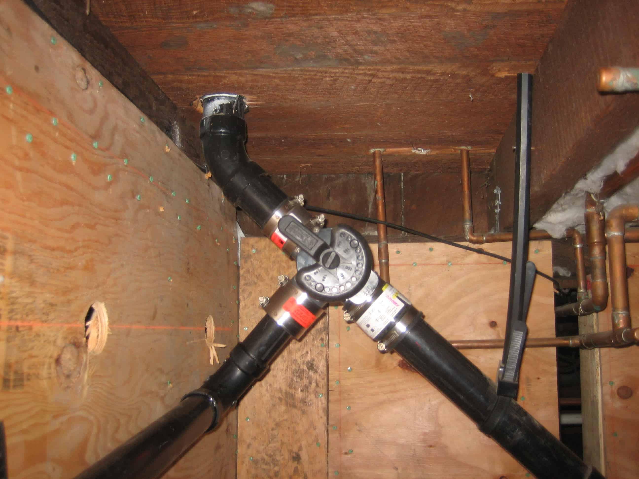 kitchen sink system branched drain clogged kitchen sink 3 way diverter valve