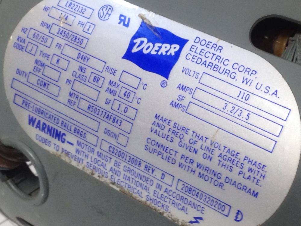 USED Electrical Motor Doerr LR22132 - GridChoice