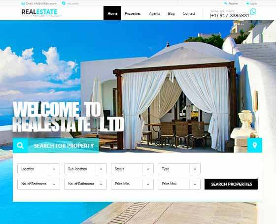 Real estate html template Gridgum