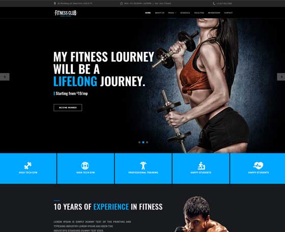 5 Sports Templates, Sport website templates  Themes Gridgum