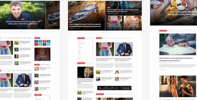 News Magazine HTML5 template Gridgum - html5 template tag