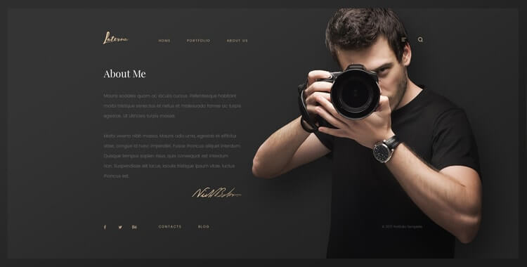 Laterna - HTML bootstrap photography template Gridgum