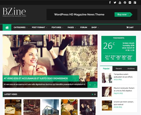 3 Newspaper template WordPress Gridgum - online newspaper template