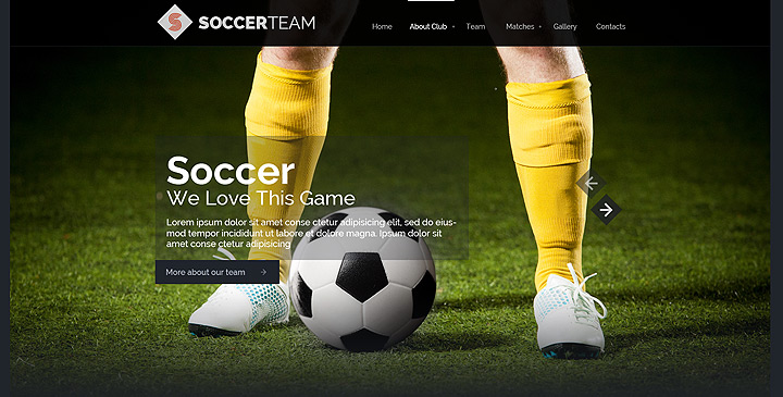 Soccer bootstrap theme, football website templates Gridgum