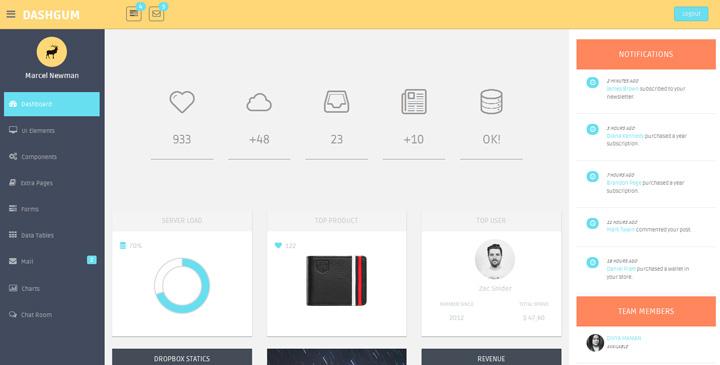 DashGum - Bootstrap Dashboard, admin template Gridgum