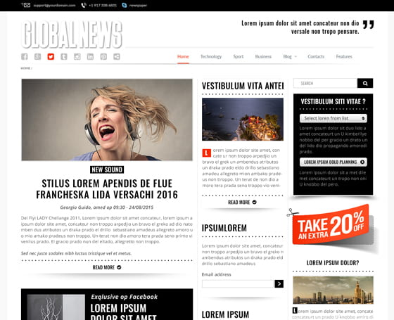 Newspaper front page template Gridgum