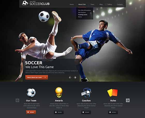 Sport website templates Gridgum
