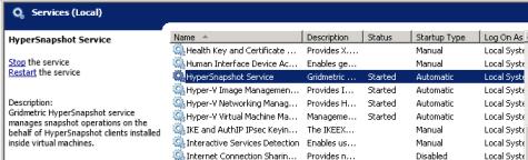 HyperSnapshot host-side service installed