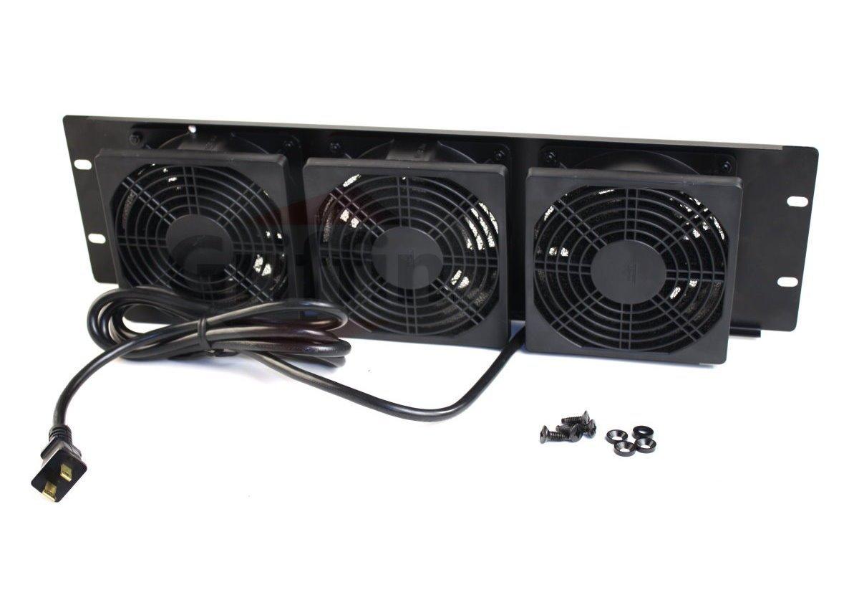 Rackmount Cooling Fan By Griffin 3u Ultra Quiet Triple