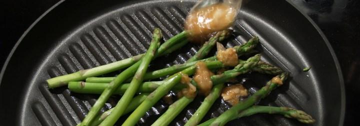 Asparagus & Lemon Pepper Vinaigrette Grilled Cheese Ingredients: Drizzling Vinaigrette