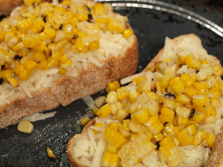 Spicy Roasted Corn Grilled Cheese