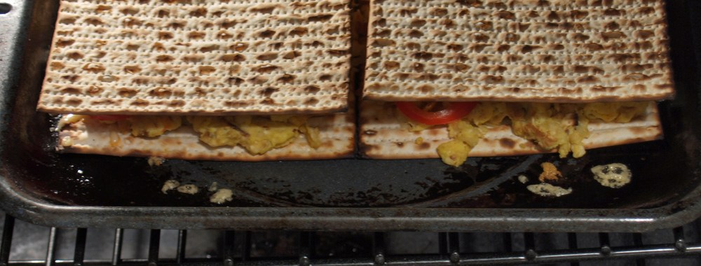 Fried Matzoh Grilled Cheese