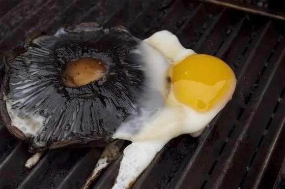 Portobello Eggs on the Grill - 074