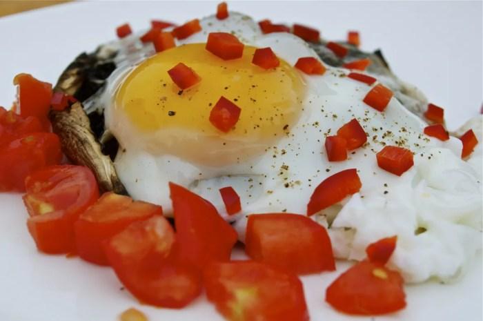 Portobello Eggs on the Grill - 093