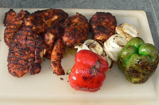 Spicy wet rub for grilled chicken fajitas