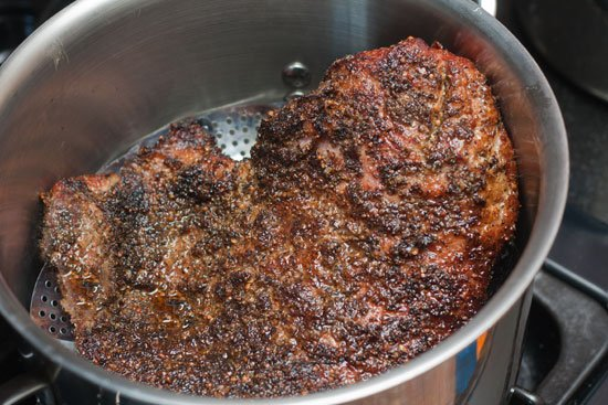 how to cook pastrami on the stove