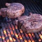 Grilled Pork Chops with Alton Brown's Pork Chop Brine