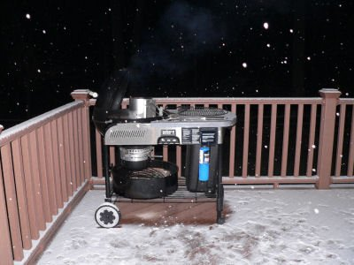 It is never too cold to grill!