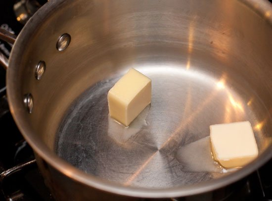 Beer Cheese Recipe - melting the butter