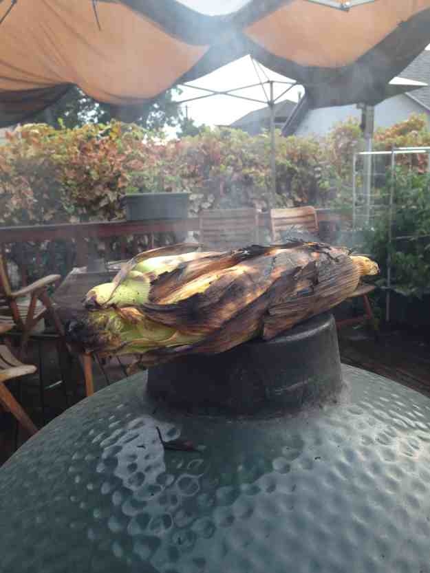 Garden Fresh Corn Roasting on the Afterburner