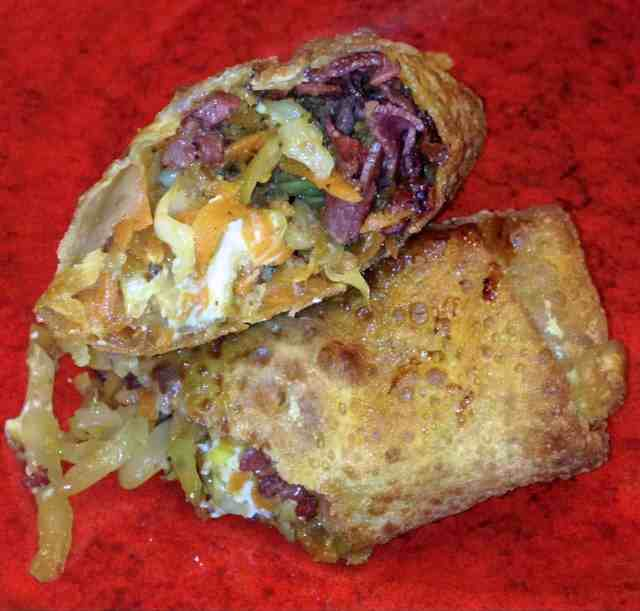 Corned Beef and Cabbage Egg Roll