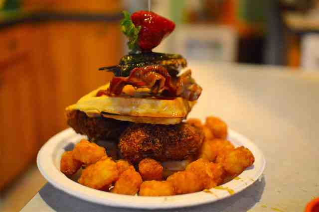 Chicken And Waffles Burger Is What You Need For Burger Month