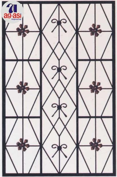 Main door iron grill design