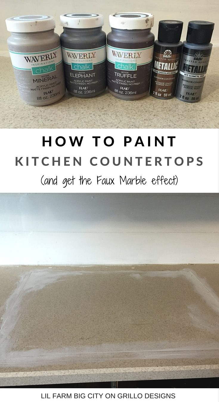 Painted Marble Countertops How To Paint Kitchen Countertops