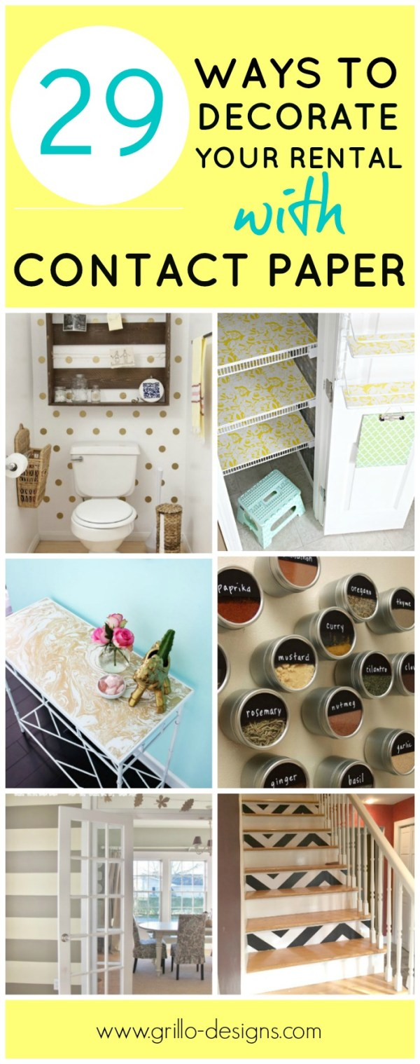 29 ways to decorate your rental with contact paper