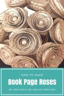 How to Make Book Page Roses