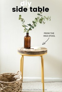 DIY Industrial Side Table Project | Grillo Designs