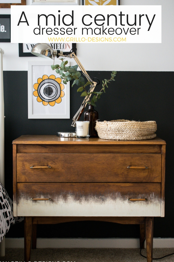 Make Over A Mid Century Dresser Makeover Tutorial In 5 Easy Steps