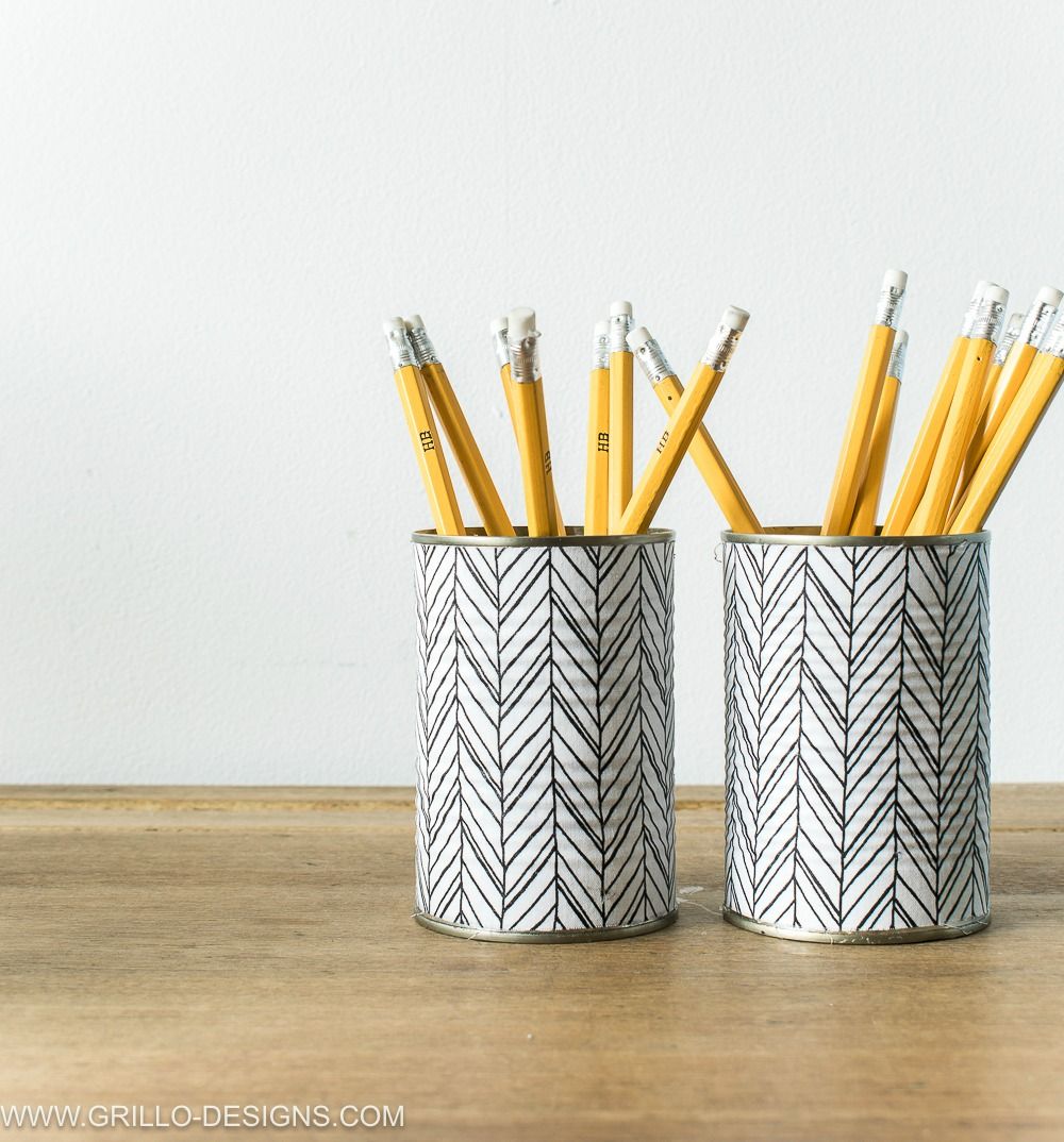 Homemade Pencil Holders How To Make A Pencil Holder From Empty Tin Cans Grillo Designs