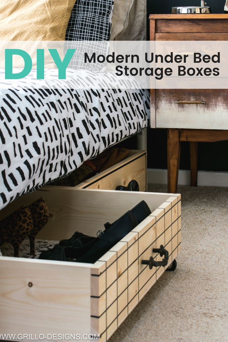 Under Bed Storage Frame Diy Under Bed Storage Boxes A Knobs Guide Grillo Designs
