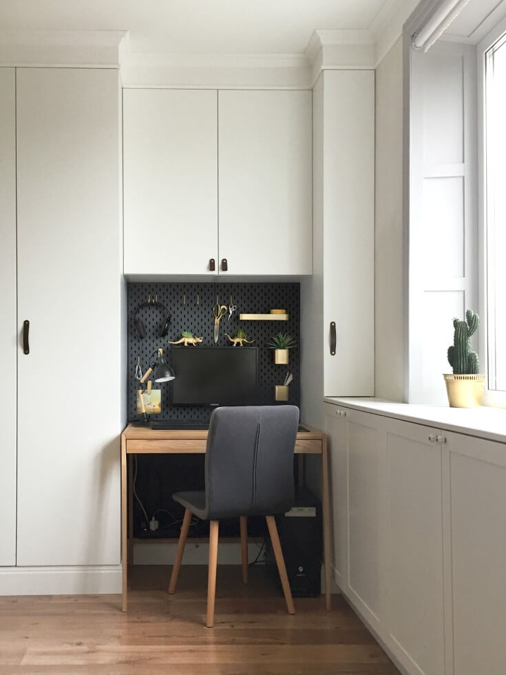Mini Office Ikea Skadis Hack - For A Mini Office Nook • Grillo Designs