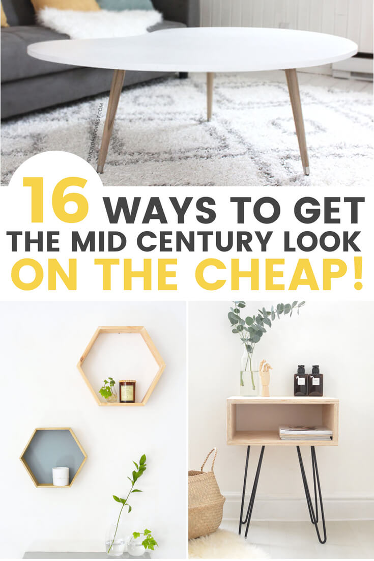 Cheap Modern Furniture 16 Affordable Diy Mid Century Furniture Ideas That Will Inspire