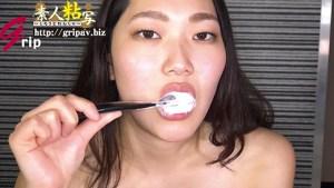 銀歯4本&矯正具付き口腔視姦と咀嚼顔舐め接吻/素人OLの亜希奈ちゃん