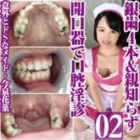 意外とドSなメイド今泉花菜の銀歯4本親知らずあり口腔を開口器鑑賞 の配信販売