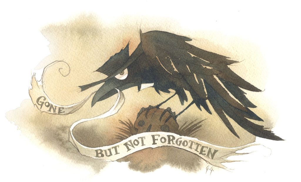 crow raven funeral gris grimly