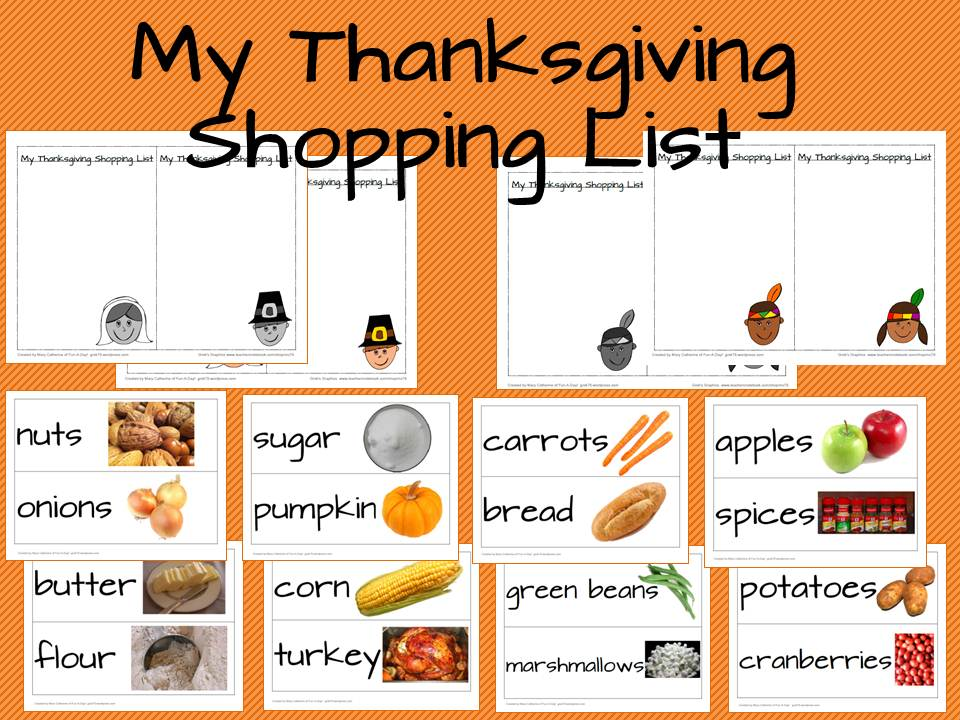 Thanksgiving Shopping List - shopping lists
