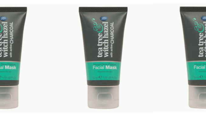 Boots Tea Tree Witch Hazel Charcoal Face Mask Review