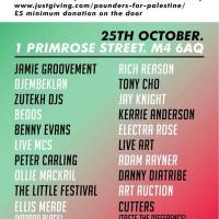 Manchester Palestine Fundraiser 25 October: Pounders for Palestine