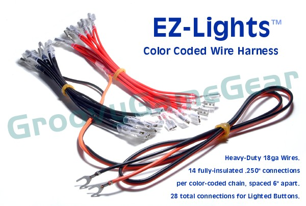 EZ-Lights (tm) Color Coded Wire Harness for Lighted Buttons